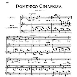 bel nume che adoro, low voice in e flat major, d.cimarosa. for contralto, bass, countertenor. from: arie antiche (parisotti)-3-ricordi (1889)