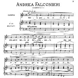 bella porta di rubini, low voice in f major, a.falconieri. for contralto, bass, countertenor. from: arie antiche (parisotti) -3-ricordi (1889)
