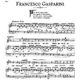 caro laccio, dolce nodo, medium-low voice in e flat major, f.gasparini. for mezzo, baritone. from: arie antiche (parisotti) -2-ricordi (1889)