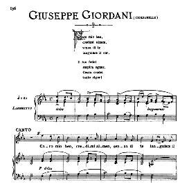 caro mio ben, medium voice in e flat major, g.giordani. for mezzo, baritone. from: arie antiche (parisotti) -2-ricordi (1889)
