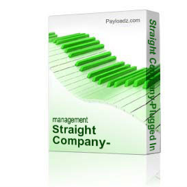 straight company-plugged in cd