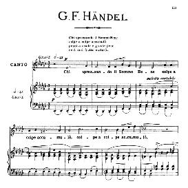 chi sprezzando il sommo bene, medium voice in e flat major, g.f.haendel. for mezzo, baritone. from: arie antiche (parisotti) -3-ricordi (1889)