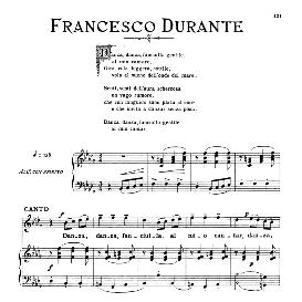danza,danza,fanciulla medium voice in b flat minor, f.durante. for mezzo, baritone. from: arie antiche (parisotti) -2-ricordi (1889)
