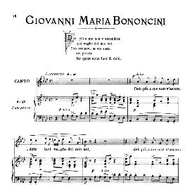deh più a me non v'ascondete, medium voice in a flat major. g.m.bononcini. for mezzo, baritone. from: arie antiche (parisotti) -1-ricordi (1885)