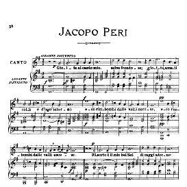 gioite al canto mio, medium-low voice in g major, j.peri. for mezzo, baritone; from: arie antiche (parisotti) -3-ricordi (1898)