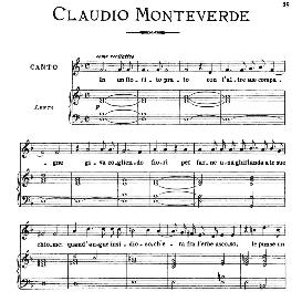 in un fiorito prato, medium-low voice in d minor, c.monteverdi. for mezzo, baritone. from: arie antiche (parisotti) -3-ricordi (1898)