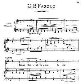 lungi,lungi,amor,da me, medium voice in f major, g.b.fasolo. for mezzo, baritone. from: arie antiche (parisotti) -3-ricordi (1898)