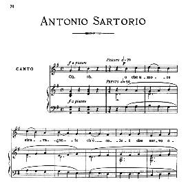 o che umore stravagante, medium-low voice in g major, a.sartorio. for mezzo, baritone. from: arie antiche (parisotti) -3-ricordi (1898