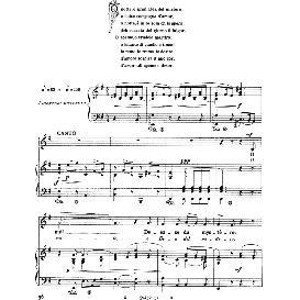 o notte, dea del mister, medium-low voice in e minor, n.piccini. for mezzo, baritone. sheet music.from: arie antiche (parisotti) -1-ricordi (1885)