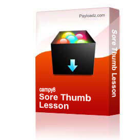 sore thumb lesson
