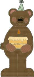 birthday bear machine embroidery file