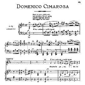 resta in pace,idolo mio, medium voice in e flat major, d.cimarosa. for mezzo, baritone. from: arie antiche (parisotti) -3-ricordi (1898)
