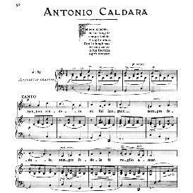 sebben crudele, medium voice  in d minor, a. caldara, ed. ricordi