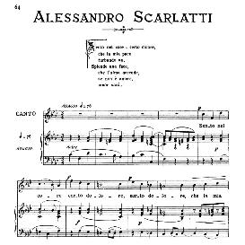 sento nel core, medium voice in f minor, a.scarlatti, ed. ricordi