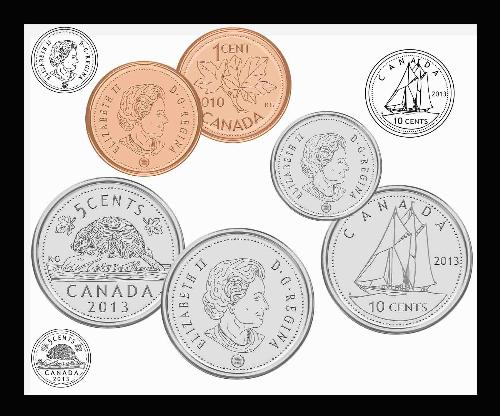 Canadian Coins Clipart Set | Other Files | Clip Art