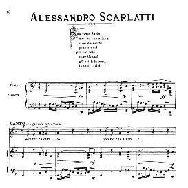 son tutta duolo, low voice in g minor, a.scarlatti, ed. ricordi