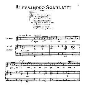 spesso vibra per suo gioco, low voice  in a minor, a.scarlatti, ed. ricordi