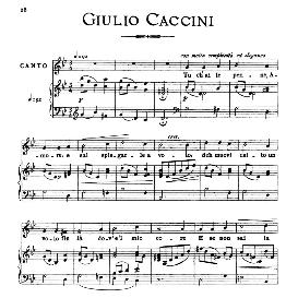 tu ch'ai le penne, medium voice in g minor, g.caccini, ed. ricordi
