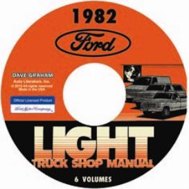 1982 ford bronco, econoline e100-e350 & f100-f350 pick up truck shop manual