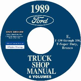 1989 ford bronco, econoline e100-e350 & f100-f350 pick up truck shop manual