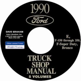 1990 ford bronco, econoline e100-e350 & f100-f350 pick up truck shop manual