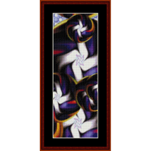 fractal 379 bookmark cross stitch pattern by cross stitch collectibles