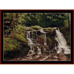 buttermilk falls - americana cross stitch pattern by cross stitch collectibles