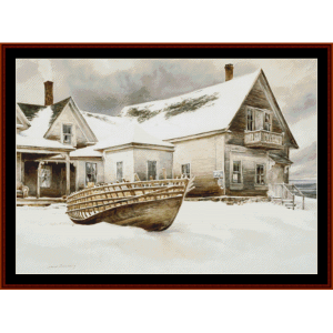 captain's quarters - americana cross stitch pattern by cross stitch collectibles