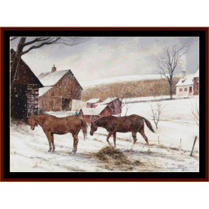christmas - americana  cross stitch pattern by cross stitch collectibles