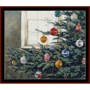 christmas bough - americana cross stitch pattern by cross stitch collectibles