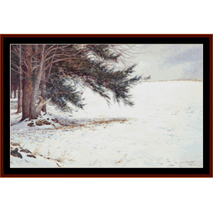 deer tracks - americana cross stitch pattern by cross stitch collectibles