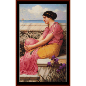 absence makes the heart grown fonder - alma tadema cross stitch pattern by cross stitch collectibles