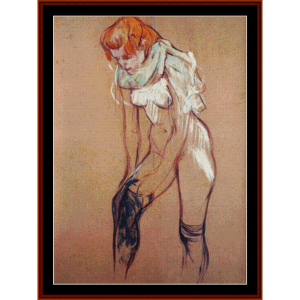 stockings - lautrec cross stitch pattern by cross stitch collectibles