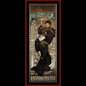 lorenzaccio - mucha cross stitch pattern by cross stitch collectibles