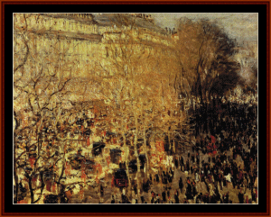 boulevard des capucines - monet cross stitch pattern by cross stitch collectibles