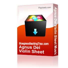 agnus dei violin sheet music