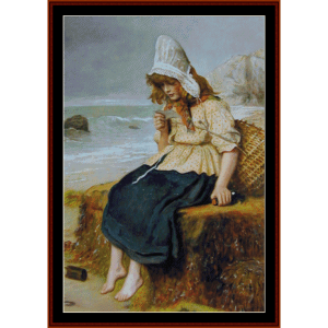 Message from the Sea - Millais cross stitch pattern by Cross Stitch Collectibles | Crafting | Cross-Stitch | Wall Hangings