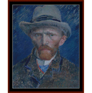self portrait - van gogh cross stitch pattern by cross stitch collectibles