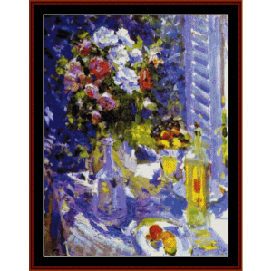 flowers and fruit - korovin cross stitch pattern by cross stitch collectibles