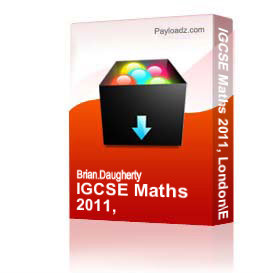 igcse maths 2011, london/edexcel , higher level