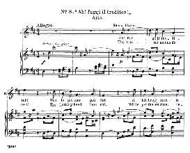 Ah! Fuggi Il Traditor! (Soprano Aria). W.A.Mozart: Don Giovanni, K.527, Vocal Score. Ed. Schirmer, it-engl (1900) | eBooks | Sheet Music
