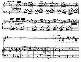 """idol mio se ritroso altra amante (soprano aria). with recitative """"chi mai del mio provò..."""""""". w.a.mozart: idomeneo k.366, vocal score. ed. braunschweig-litolff 147 (1900). italian"""