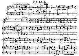 durch zârtlichkeit und schmeicheln (soprano aria). w.a.mozart: die entführung aus dem serail, k.384, vocal score (g. kogel). ed. peters (1881)