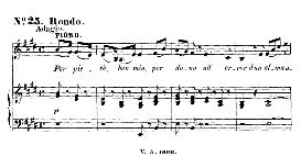 per pietà, ben mio (aria for soprano). with recitative