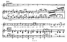 deh vieni non tardar (aria for soprano). with recitative