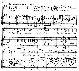 "Padre! Germani! Addio! (Aria for Soprano). With recitative ""Quando avran fine ormai"". W.A.Mozart: Idomeneo K.366, Vocal Score. Ed. Braunschweig-Litolff 147 (1900). italian 