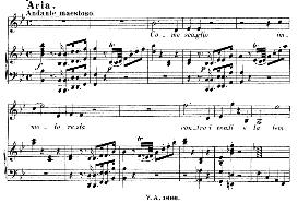 Come scoglio, immoto resta (Aria for Soprano). With recitative Temerari!...  W.A.Mozart: Cosi fan tutte, K.588, Vocal Score (H. Levi). Universal Edition (VA 1666), (1898) italian | eBooks | Sheet Music