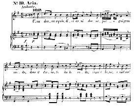 una donna a quindici anni (aria for soprano). w.a.mozart: cosi fan tutte, k.588, vocal score (h. levi). universal edition  (va 1666), reprint from breitkopf (1898) italian