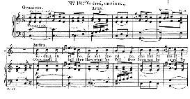 vedrai carino (aria for soprano or mezzo). w.a.mozart: don giovanni, k.527, vocal score. ed. schirmer (1900) it-engl.