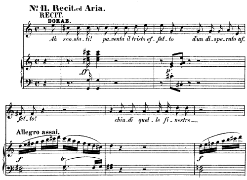 "First Additional product image for - Smanie implacabili (Aria for Mezzo). With recitative ""Ah scostati!"".  W.A.Mozart: Cosi fan tutte, K.588, Vocal Score (H. Levi). Universal Edition (VA 1666),, reprint from Breitkopf (1898) italian"